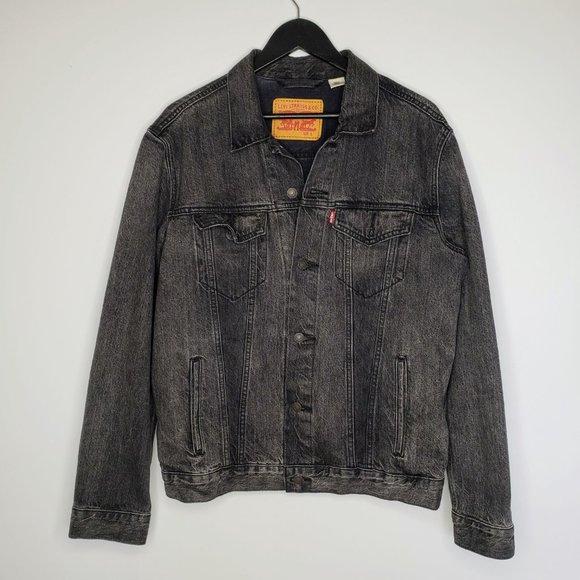 Levi's Men's Black Denim Trucker Jacket Size L
